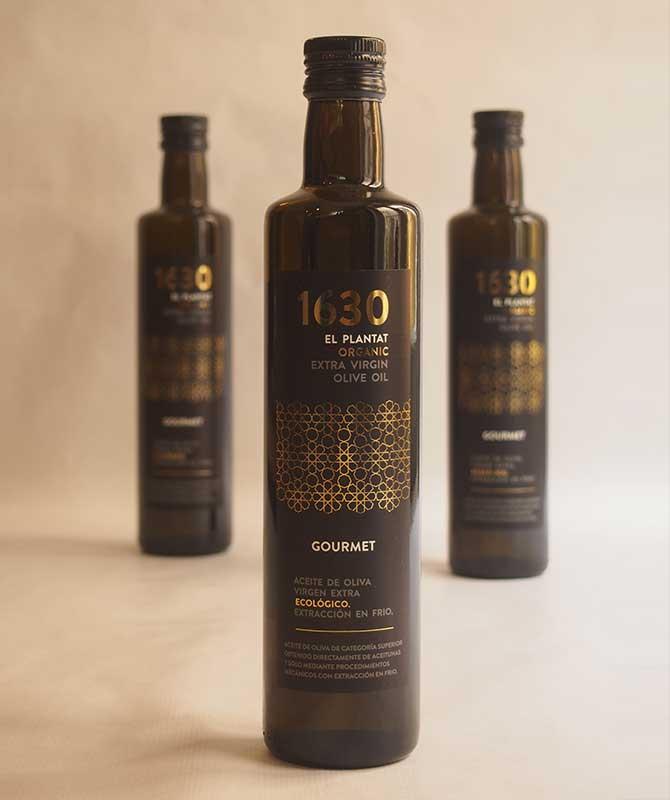 Botellas de aceite 1630